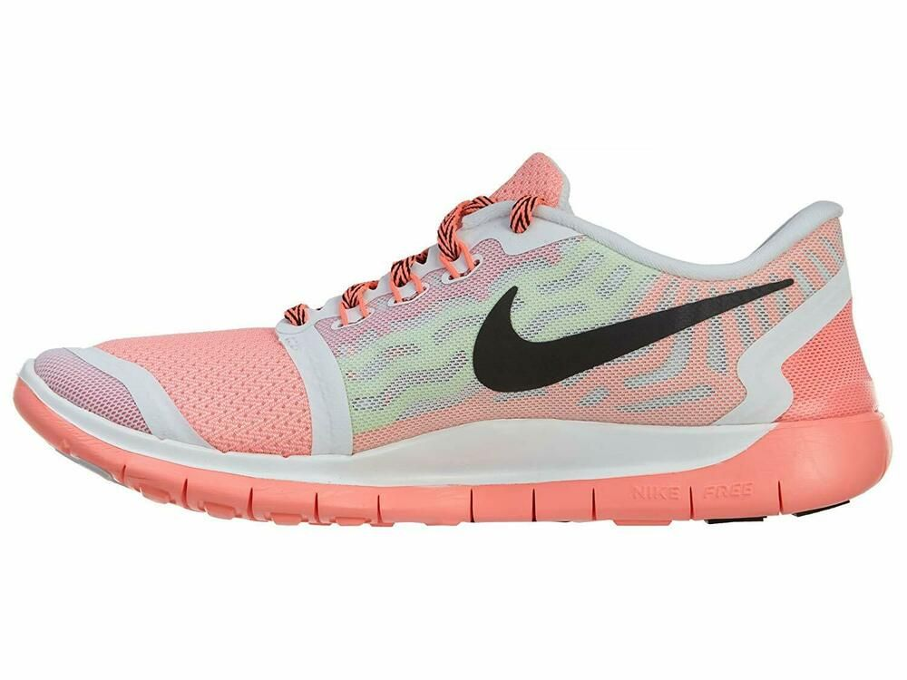 Ebay Sponsored Nike Kids White Pink Pow Lava Glow Black Free 5 0 Running Shoes Size 6 5y Medium Nike Kids Youth Running Shoes Nike