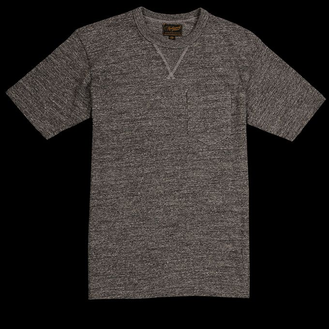 UNIONMADE - National Athletic Goods - V Pocket Tee in Dark Grey