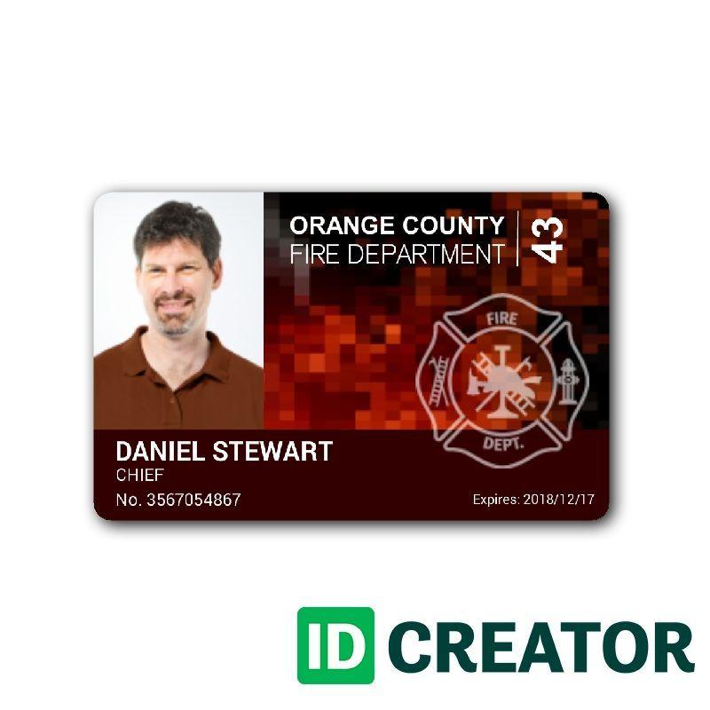 Idcreator Com Id Badge Maker Free Id Card Software 1 855 Make Ids Badge Maker Id Badge Maker Fire Department
