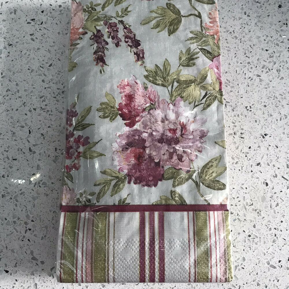 Grainhouse Floral Guest Paper Towel Napkins 20 Ct 2 Ply Flower Stripe Decoupage Ebay In 2020 Paper Guest Towels Christmas Tree Shop Paper Towel