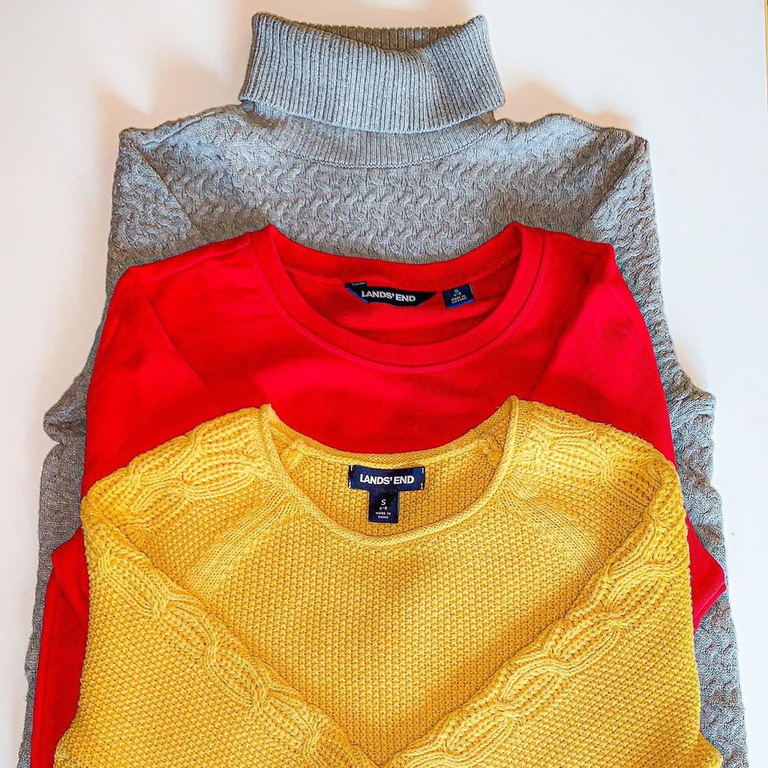 Classic On A Budget On Instagram Lands End Gray Tunic Turtleneck 20 Red Tunic Sweatshirt 20 Yellow Roll Ne Roll Neck Sweater Tunic Sweatshirt Gray Tunic [ 1080 x 1080 Pixel ]
