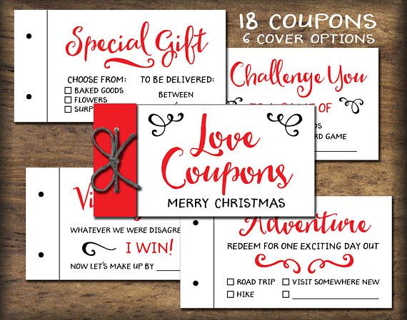 Love Coupon Book Printable gift idea Instant download DIY diy