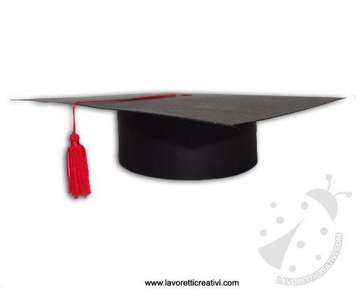 COME REALIZZARE UN CAPPELLO DI LAUREA Tocco di laurea con cartoncino Questa  idea piace molto alle insegnanti per festeggiare il passaggio dalla scuola  mate 46f87c9bb11e