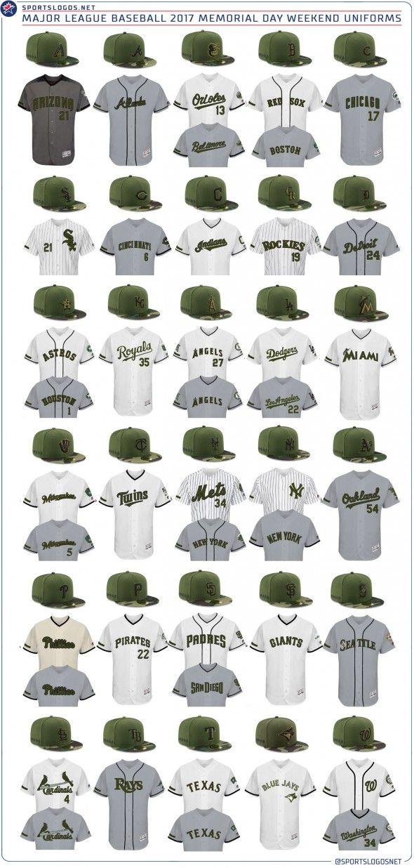 15526339f 2017 MLB Memorial Day Weekend Uniforms