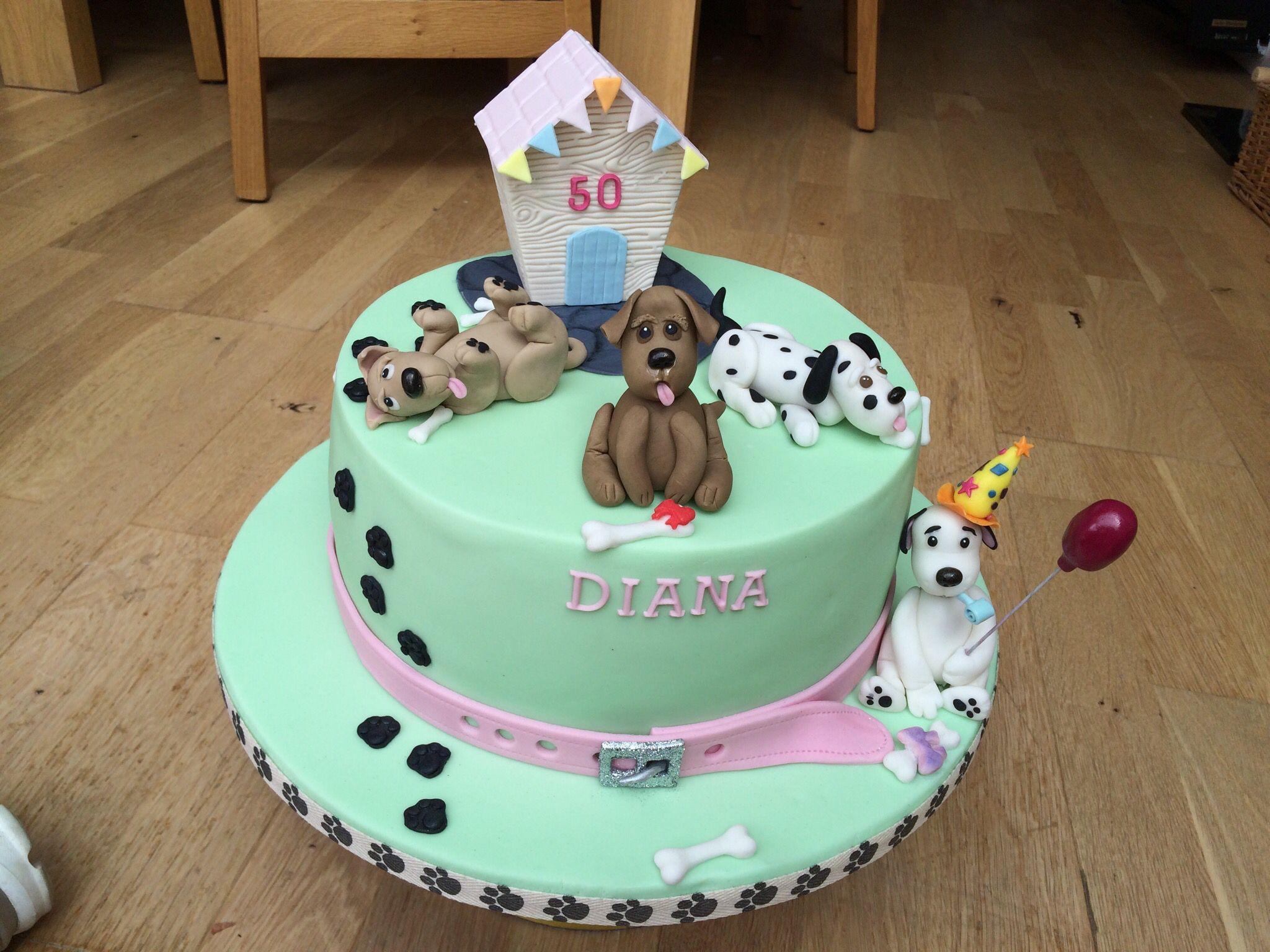 Pleasant Dog Lovers Birthday Cake For My Dog Loving Sister Dog Cakes Personalised Birthday Cards Akebfashionlily Jamesorg