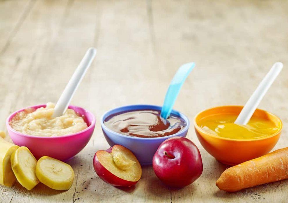 45 Papillas Para Bebés De Frutas Y Verduras Nutritivas Y Sabrosas Para Cada Mes Recetas De Comida Para Bebés Comida Para Bebés Frutas Y Verduras