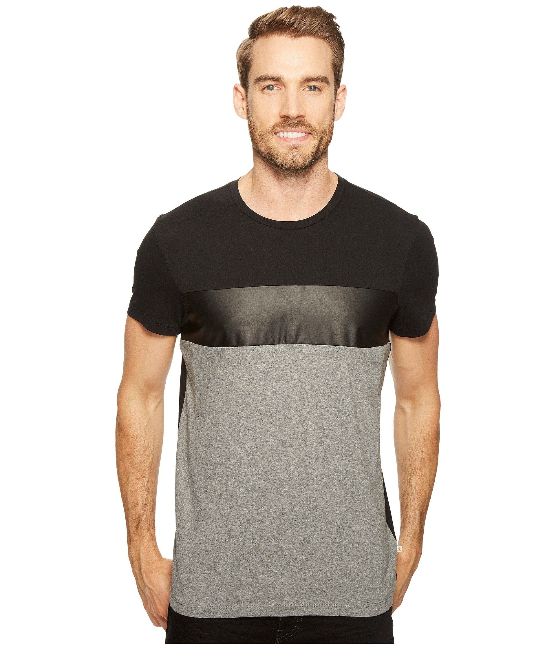 680294508 CALVIN KLEIN Tricolor Blocked T-Shirt. #calvinklein #cloth ...