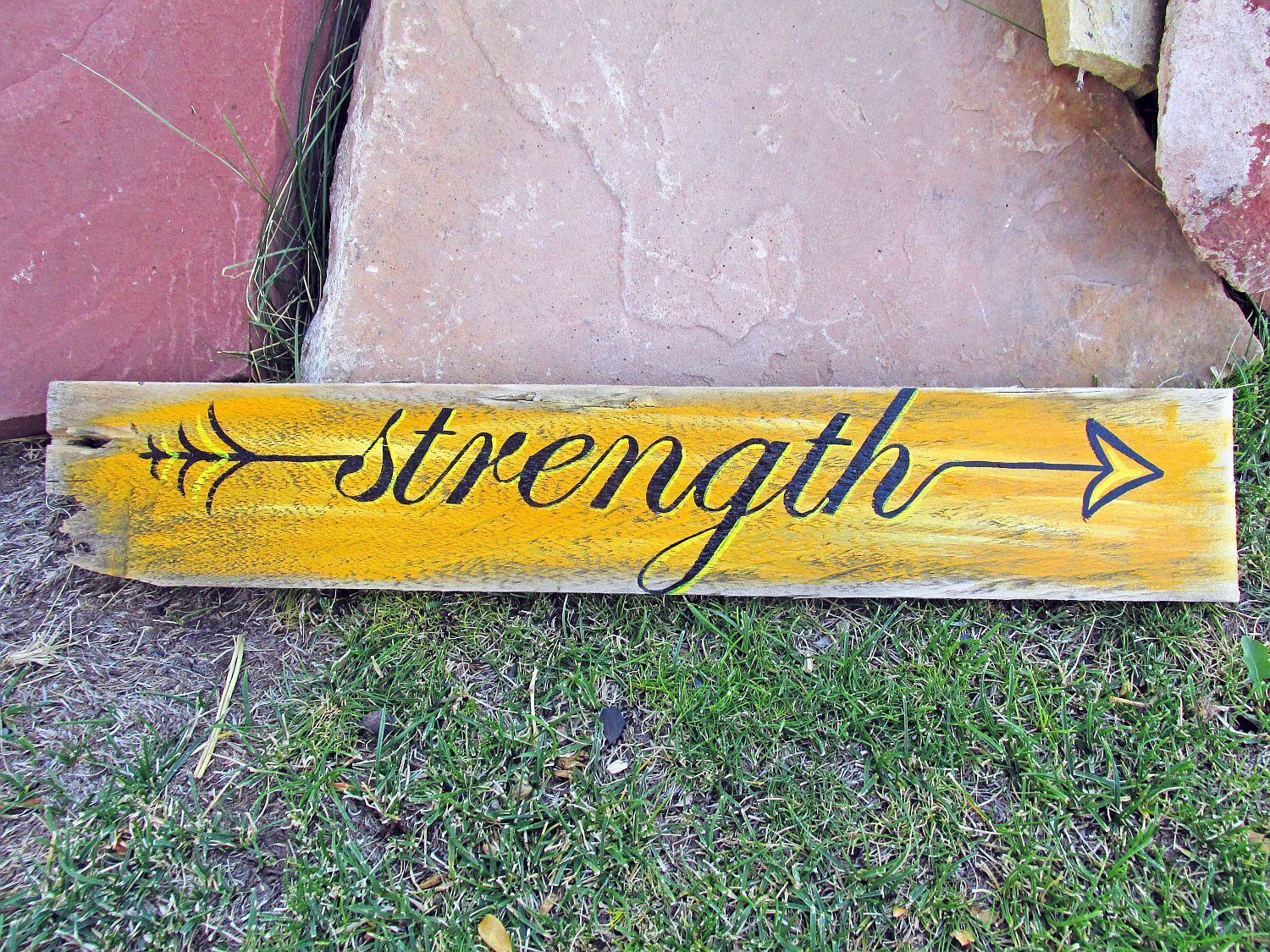 Strength Arrow Wood Sign I have other in stock arrow signs and will ...