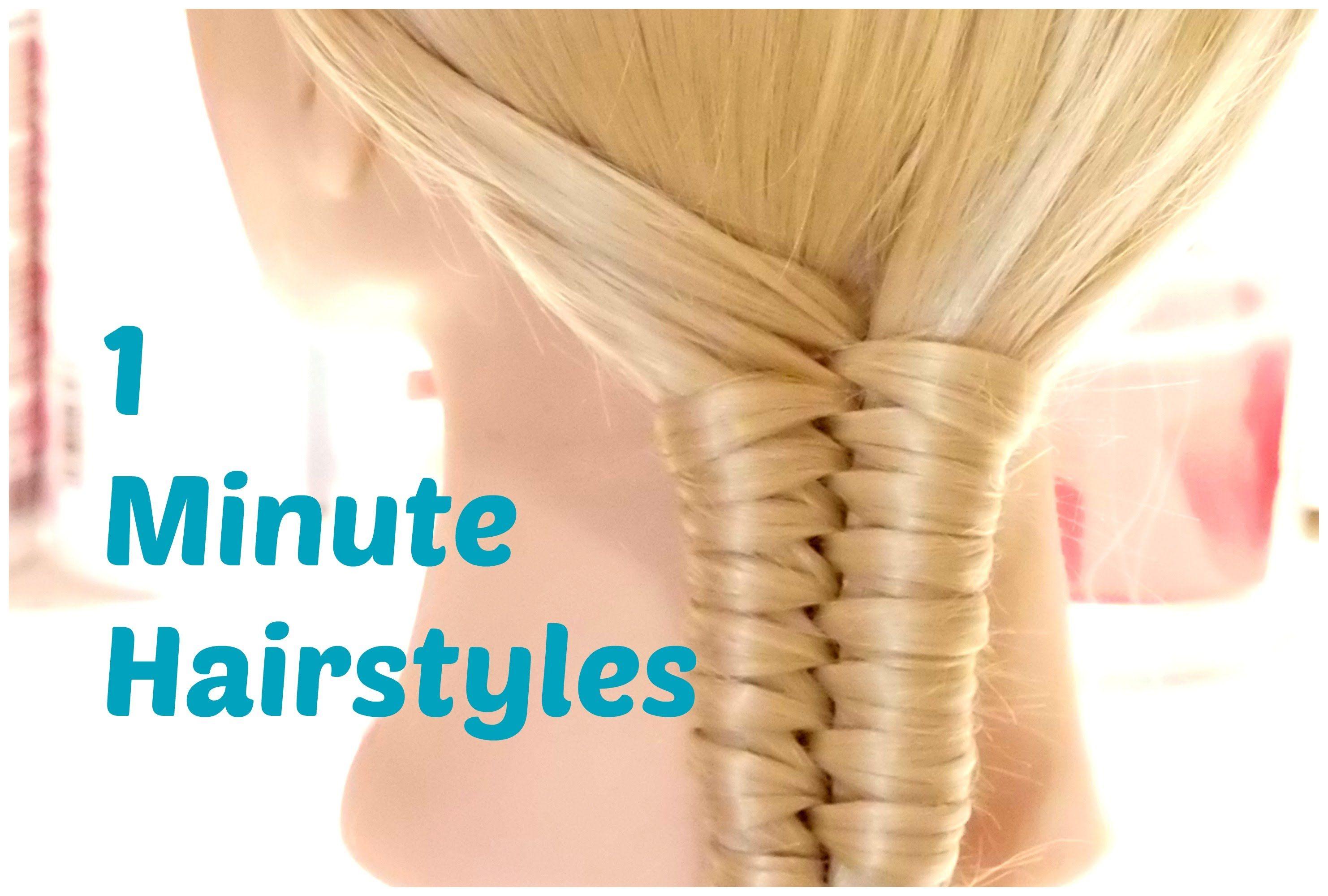 2 Minute Hairstyles 1 Minute Hairstyles  Easy Summer Hairstyles  Crix Tutorials  Hair