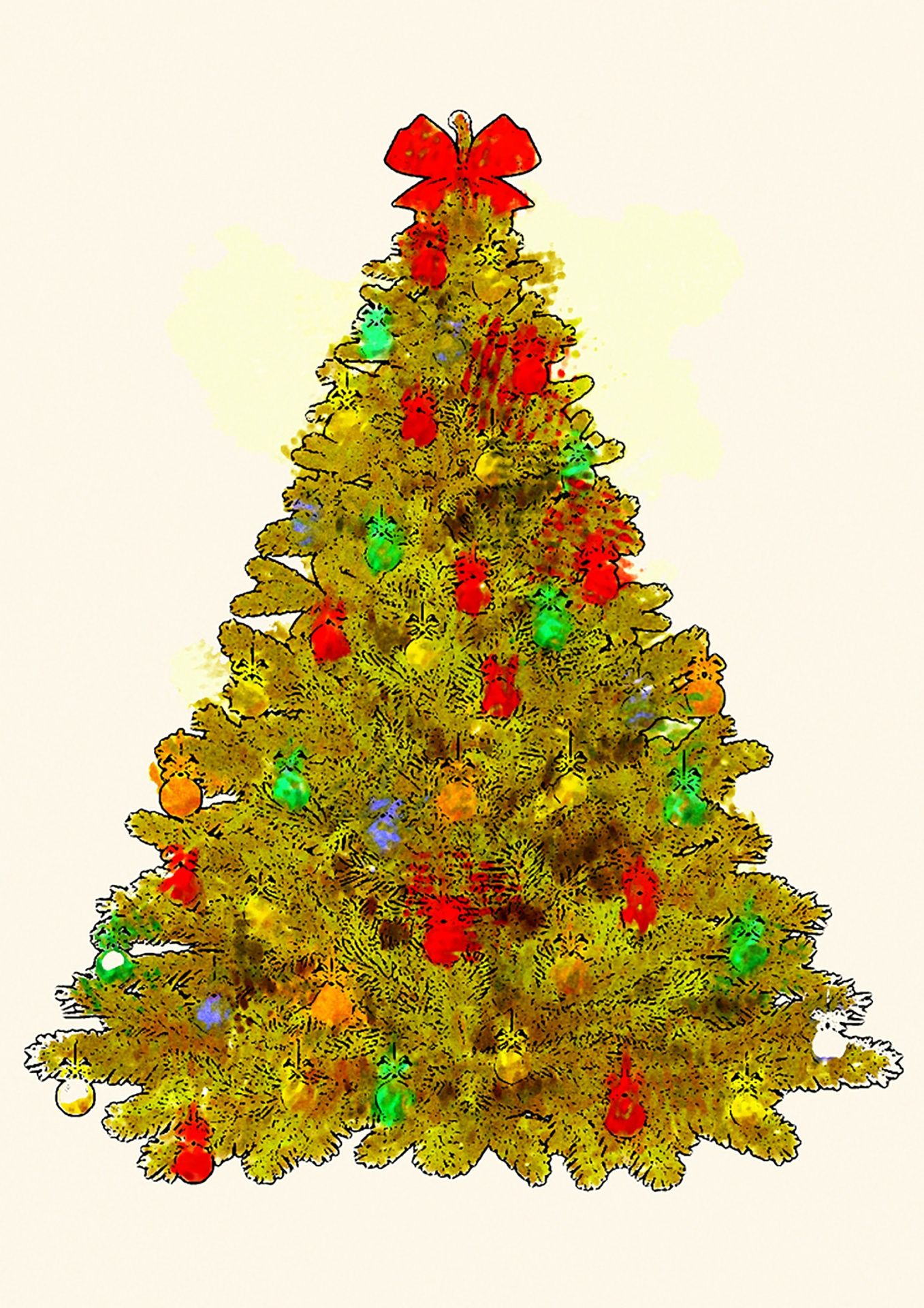 Christmas Images Free For Commercial Use.Yellow Christmas Tree One Of Over 16 000 Free Images