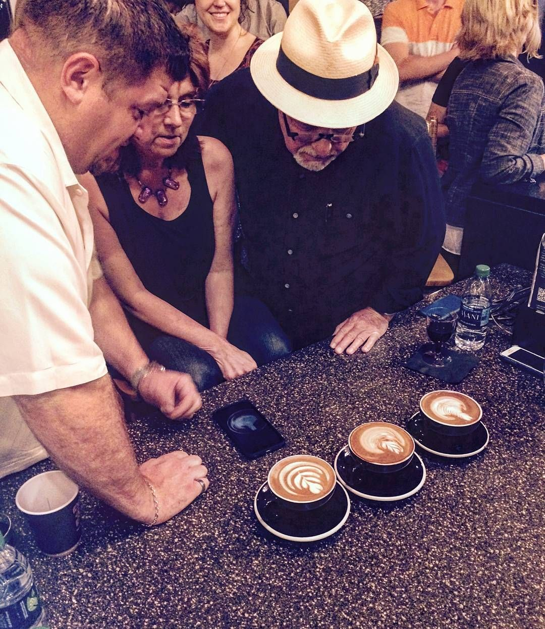 Congratulations Kyle (1st) Sierra (2nd) and Sam (3rd)!!! @caffedarte #latteartist  #latteartcompetition