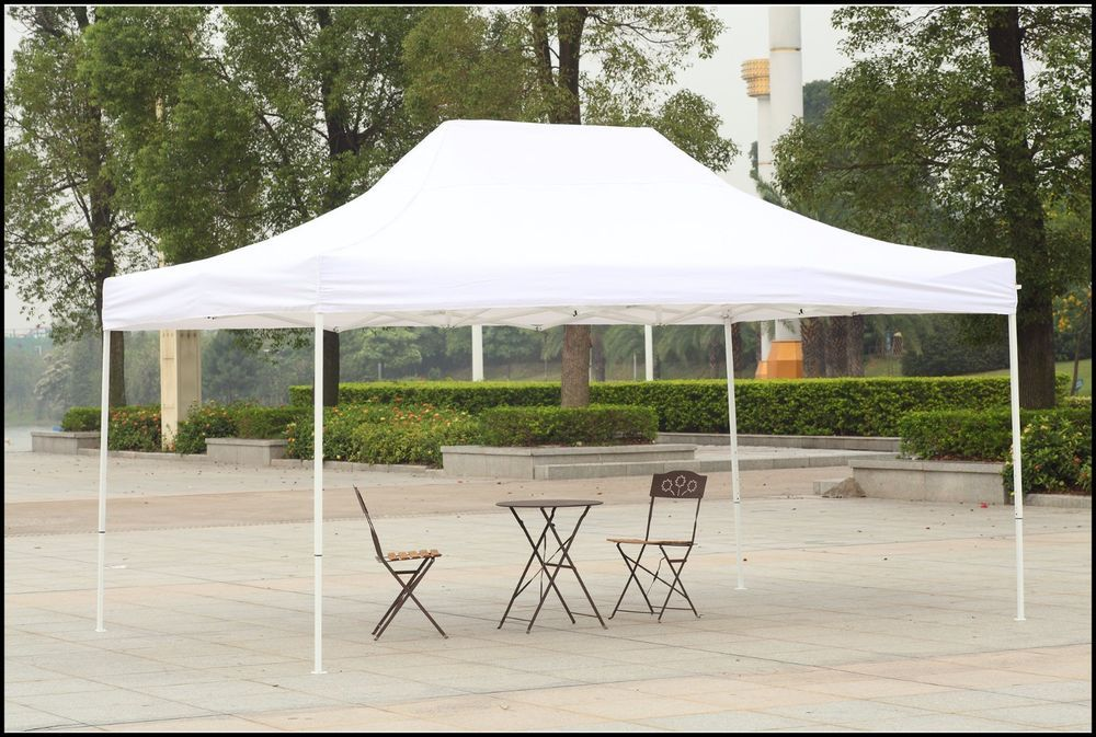 Outdoor Canopy Shelter Gazebo 10x15 White Patio Backyard Shade