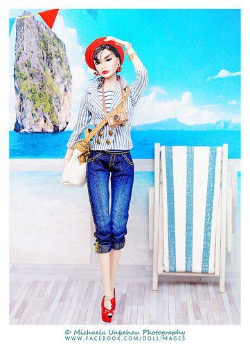 at the seaside | Model: Poppy Parker as Sabrina Fairchild Sh… | Flickr