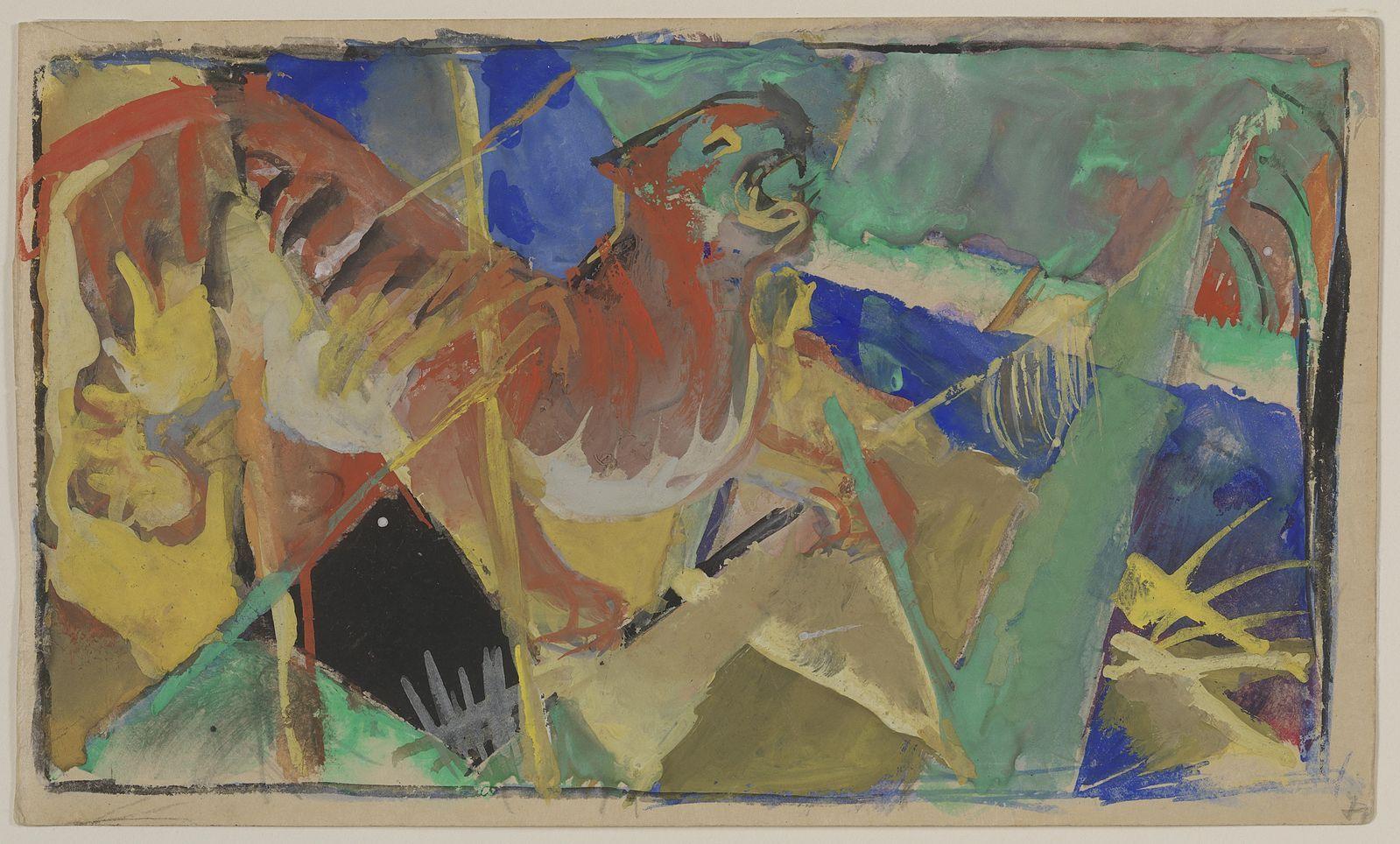 Franz Marc (1880–1916), Tiger in the Jungle, Guggenheim