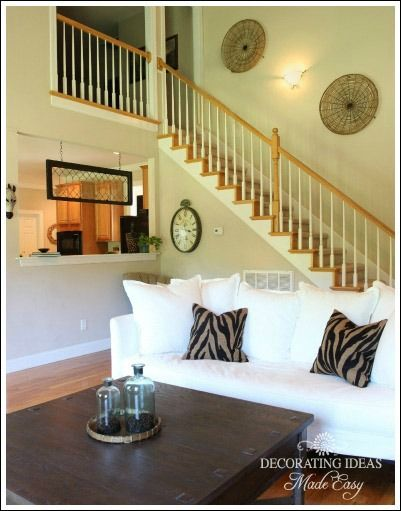 Modern Decorating Ideas - hang large flat baskets on the wall going ...