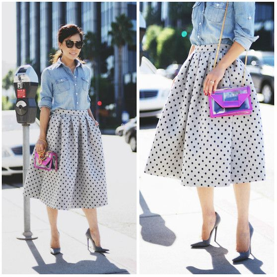 Skirt and denim
