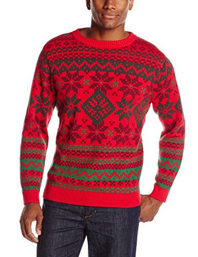 Alex Stevens Men's Bright and Bold Fairisle Ugly Christmas Sweater ...