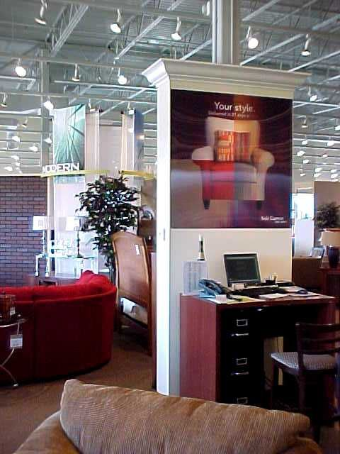 Special Wall Graphics 3d Furniture Store Sofa Express Wall Graphics