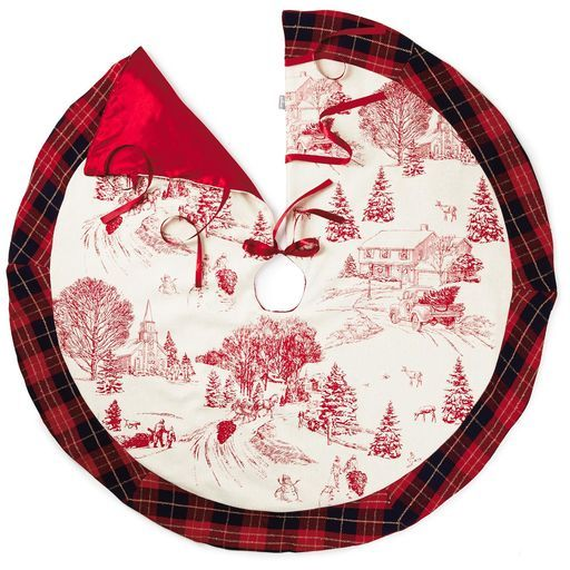 Christmas Toile Tree Skirt, 48\