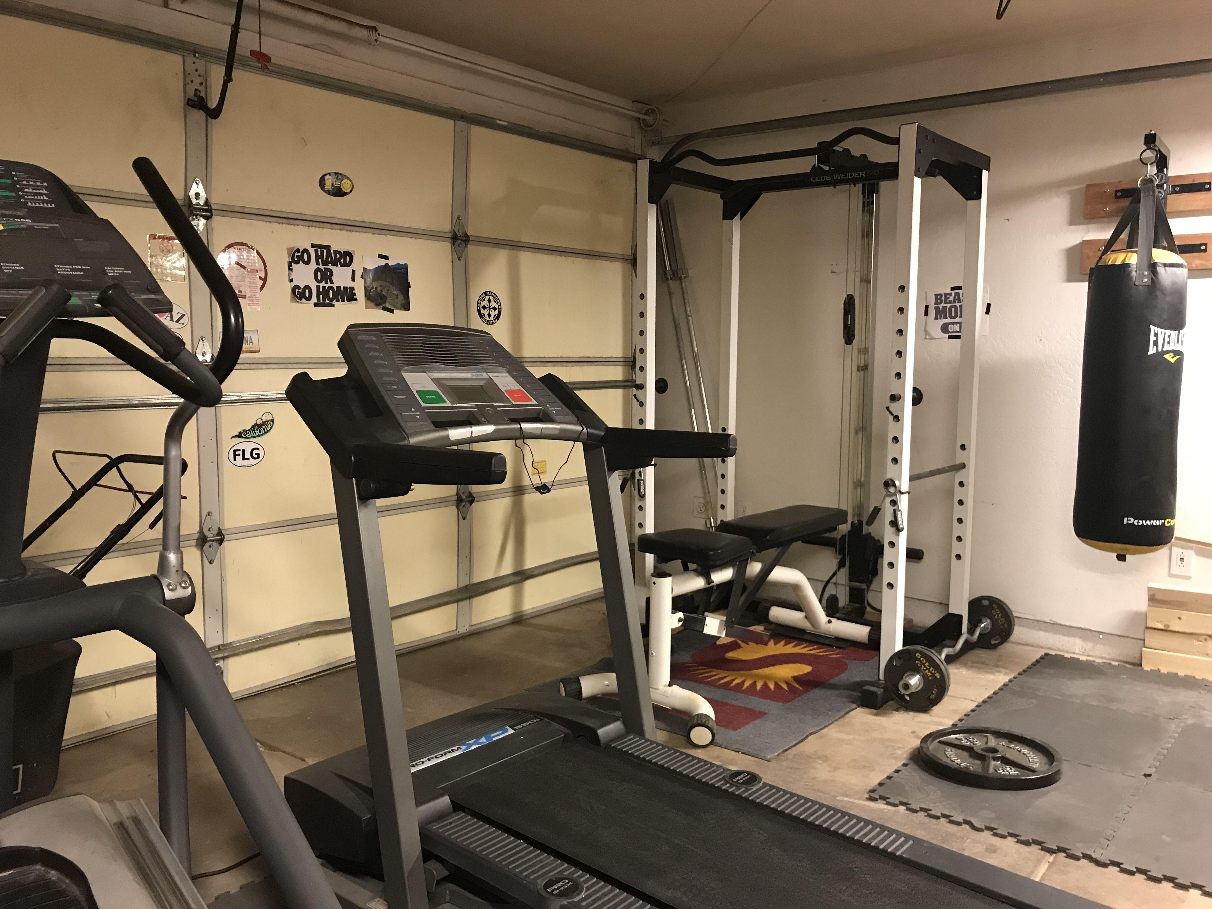 Evolution of a garage boxing gym diy boxing gym boxing gym