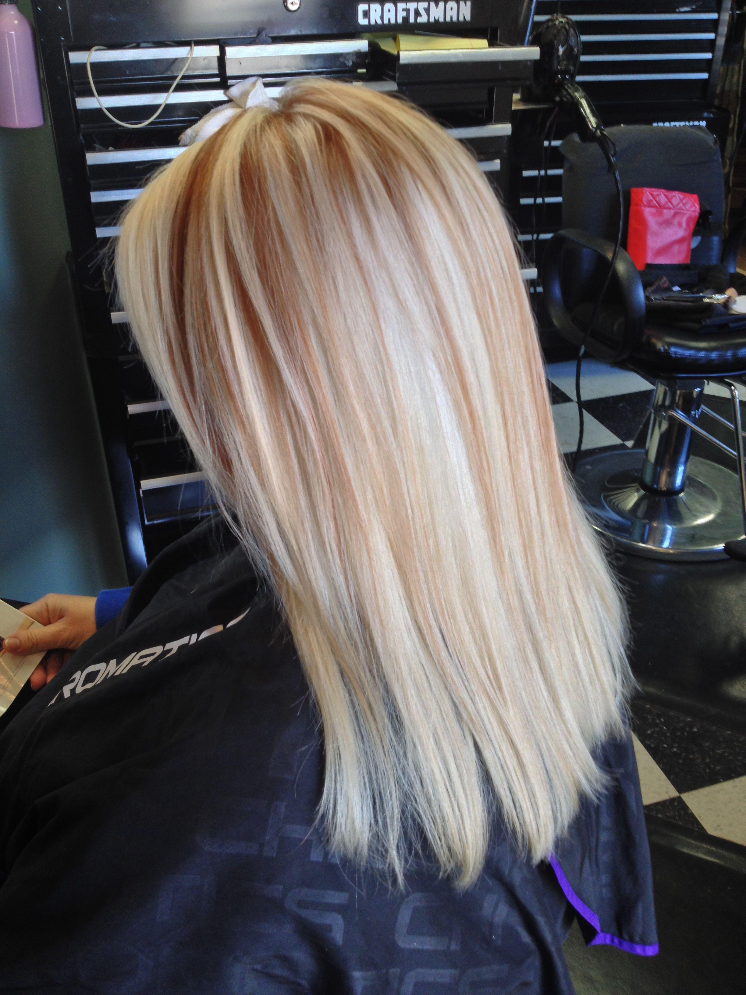 Platinum Blonde With Copper Red Lowlites Platinum Blonde