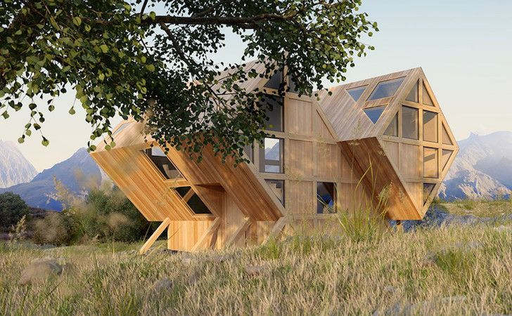 Gorgeous Valley House Is A Geometric Timber Cabin Inspired By The