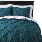 Threshold™ Pinched Pleat Duvet Cover - Zenith Teal (King)