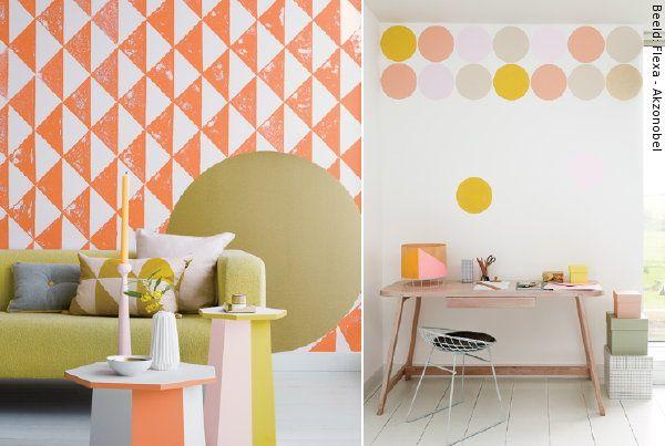Kleurtrend Roze Interieur : Interieur kleur kleurtrend the grid letting go flexa