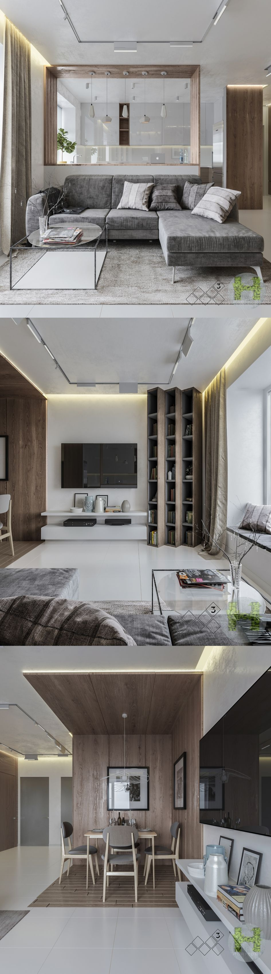 This Modern Interior Design Is An Excellent Set Of Two Styles Rustic And Minimalist Apartments