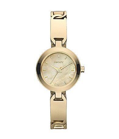 DKNY Gold Linked Bracelet Watch | Dillards.com