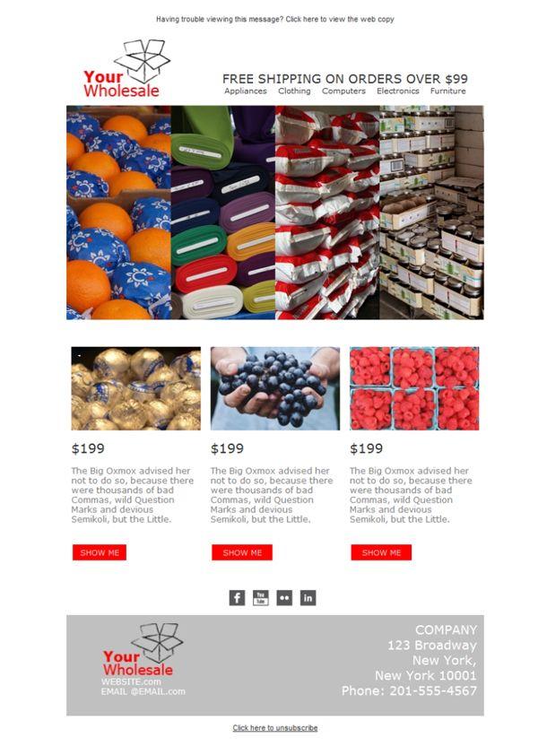 ¿Tienes las mejores ofertas de productos internacionales? Envía tus campañas con las plantillas newsletter de Mailify y da a conocer tu negocio de venta al por mayor.