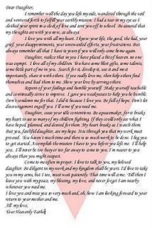 Letter from a father to his daughter