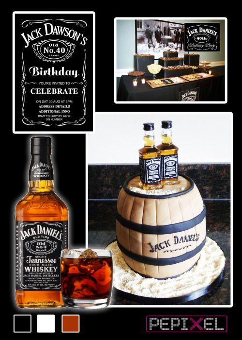 Jack Daniels Birthday Theme Party Ideas Pinterest Jack daniels