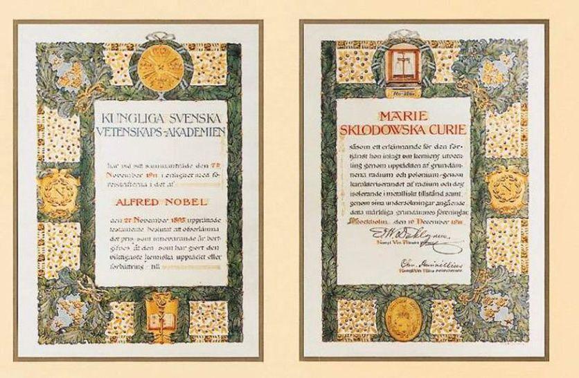 1911 Nobel Prize Diploma Marie Sklodowska Curie Wikipedia The