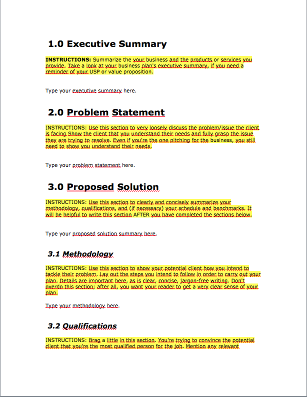 Business Proposal Request Individual Format Samplesmple Proposalg