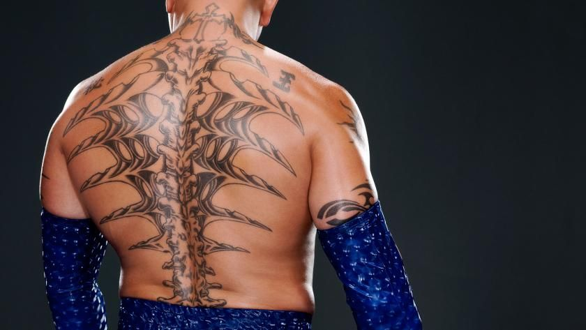 rey mysterio 39 s back tattoo wwe pinterest