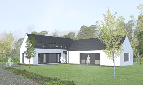 Sketch Of A Scandinavian House Exterior Google Search House Designs Ireland Modern Bungalow House Bungalow House Design