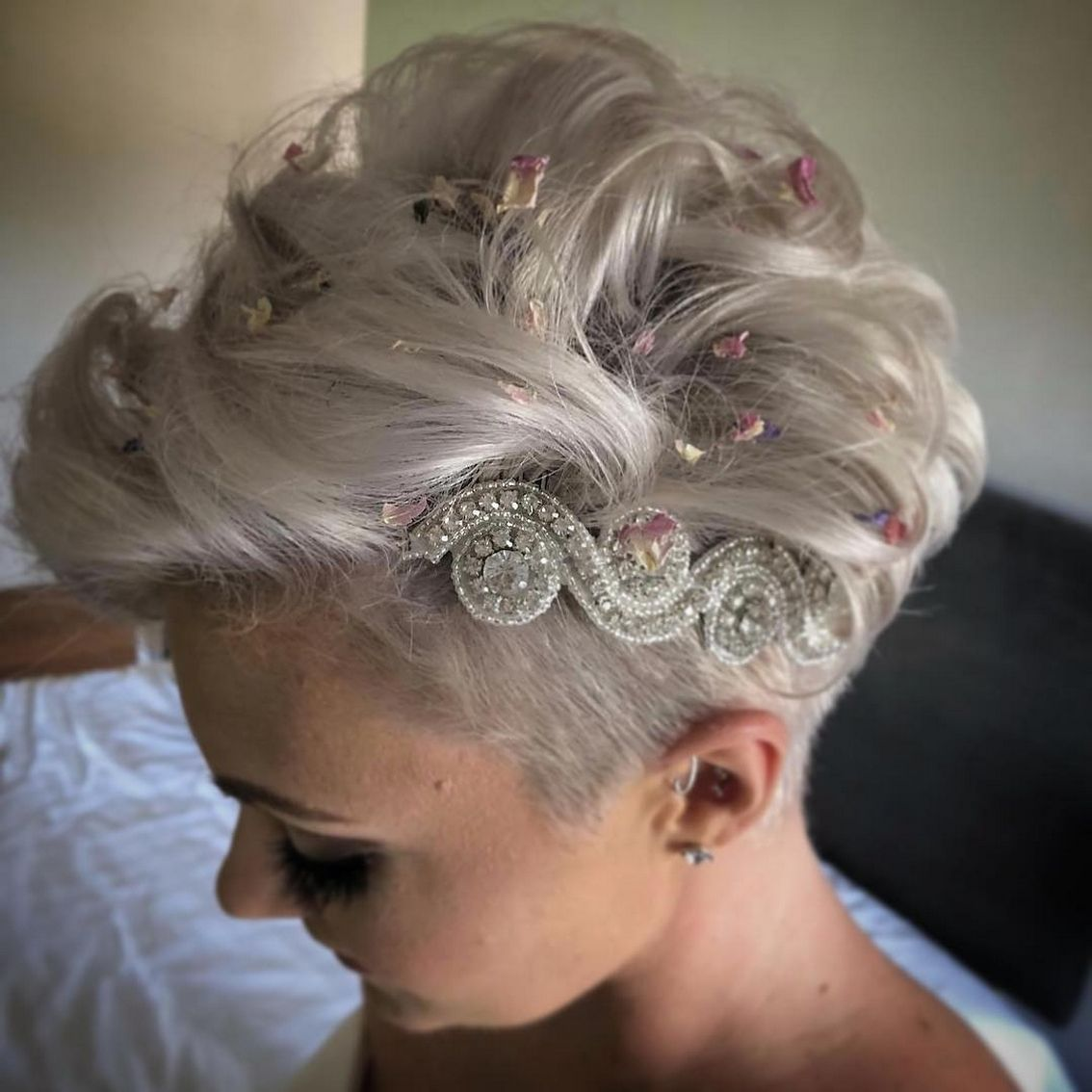 40 Braids Wedding Hairstyles For Short Hair In 2020 Pixie Wedding Hair Short Wedding Hair Short Hair Bride