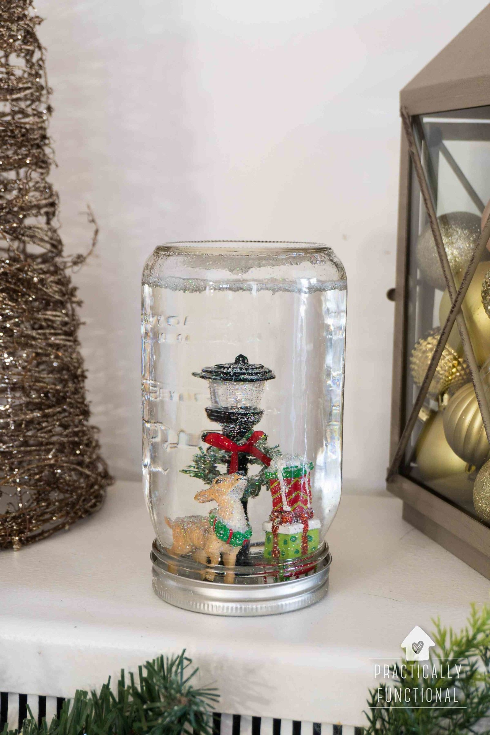 How To Make A Snow Globe Snow Globes Christmas Projects For