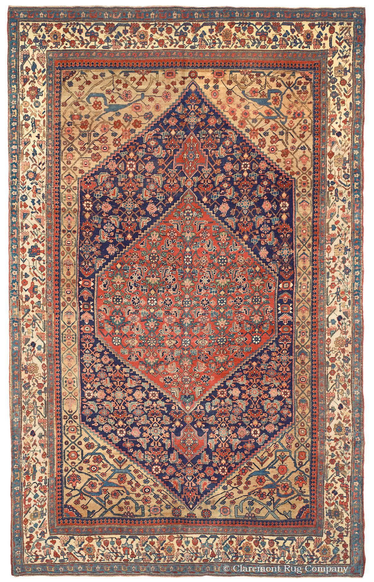 Halvai Bijar Northwest Persian 7ft 6in X 12ft 0in Circa 1900 Oriental Rug Rugs Rugs On Carpet