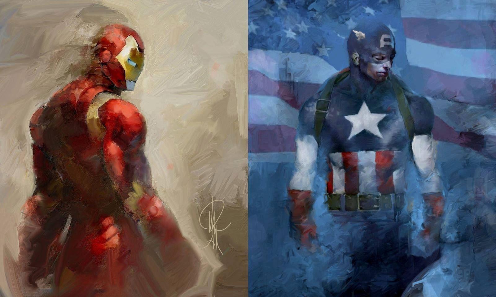 ironmancaptain america  graphic novel avengers comics