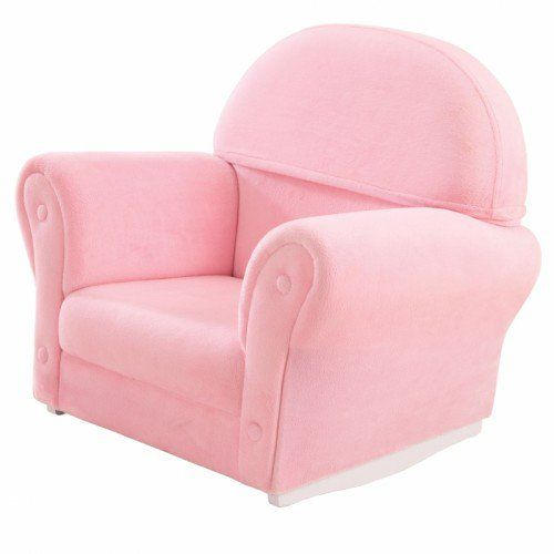Pink Velour Rocker With Slip Cover Chair Chair