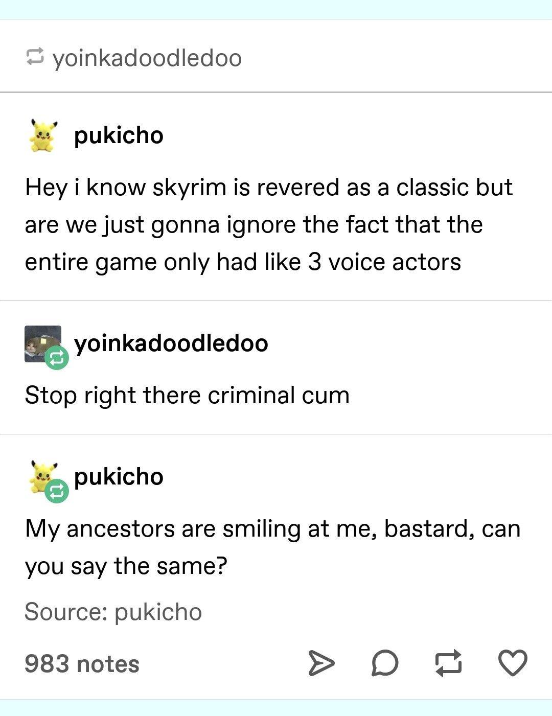 Skyrim voice actors   Skyrim   Funny tumblr posts, Tumblr