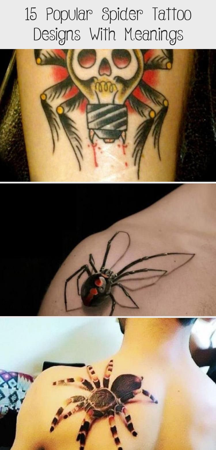 Photo of 15 Popular Spider Tattoo Designs With Meanings – Tattoos
