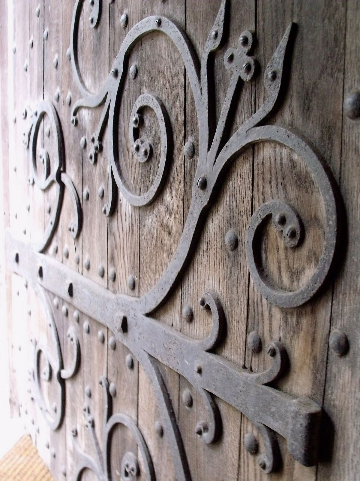 Old Doors Barn Doors French Country Kitchens Bradford On Avon Door Knockers Strap Hinges Wrought Iron Brave Medieval & Priory Barn door Bradford on Avon | Barn doors Barn and Doors