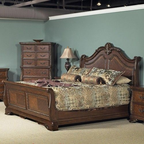 Bedroom Furniture Jackson Ms liberty furniture highland court king sleigh bed with arched