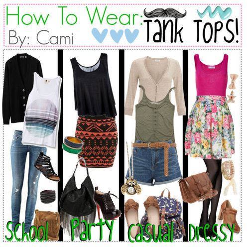 what to wear with tank tops