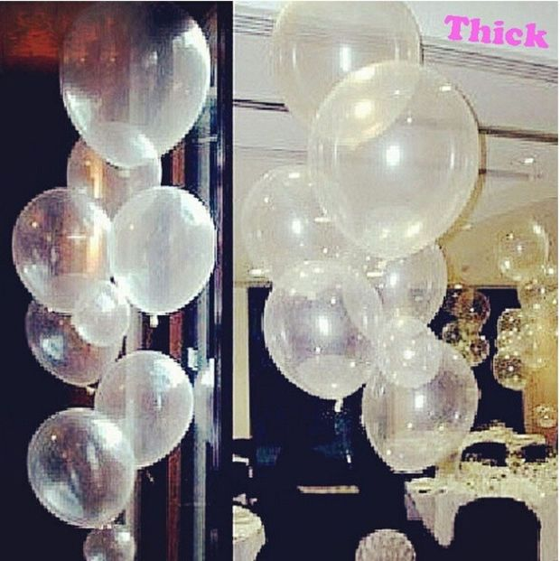 Transparent /& Clear Balloons For Weddings Birthday  Anniversaries latex balloons