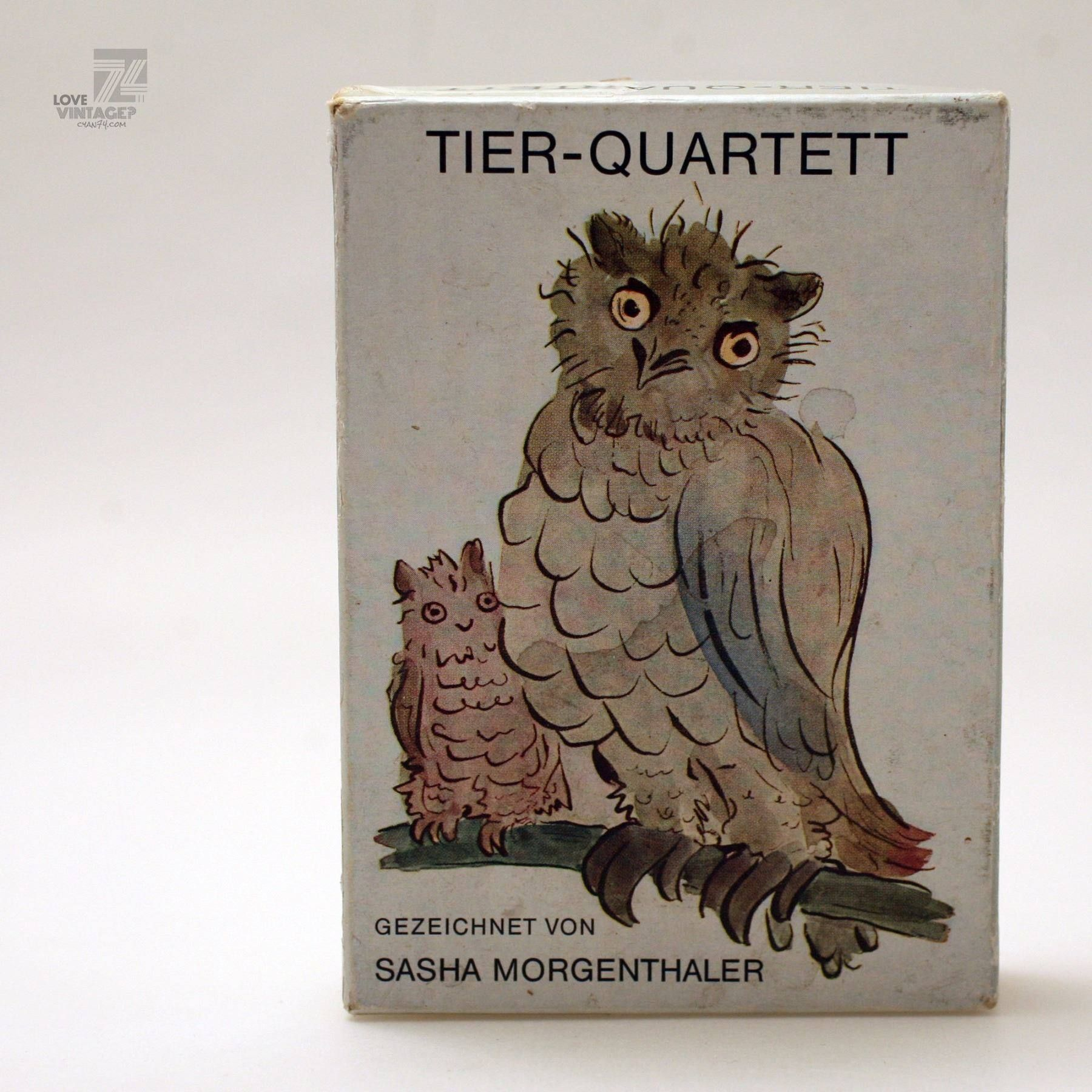 cyan74.com - vintage & pop culture | SASHA MORGENTHALER TIER-QUARTETT