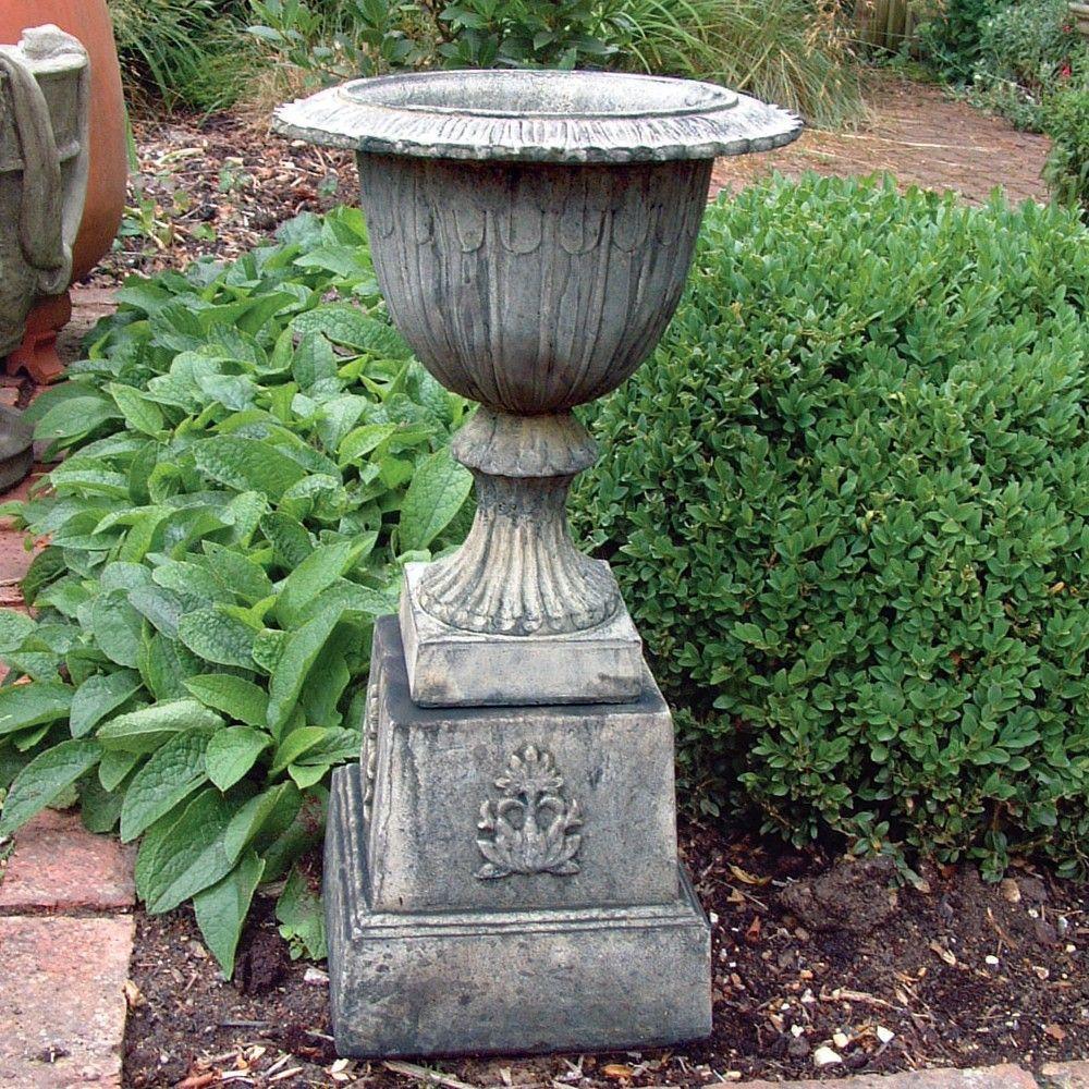 Modena 30 Stone Vase Plant Pot On Plinth Large Garden Planter. Buy Now At  Http